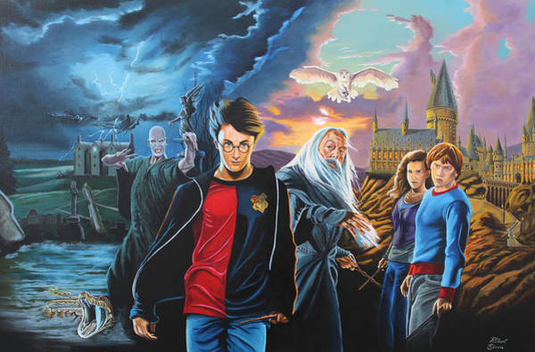 Ron Weasley Wall Art - Painting - Harry Potter's World by Robert Steen