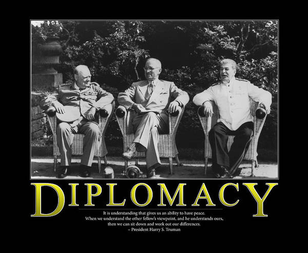 Wall Art - Photograph - Harry Truman Diplomacy by Retro Images Archive