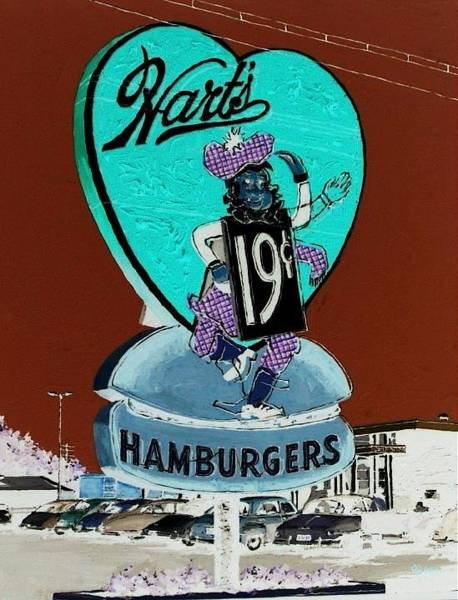 Wall Art - Painting - Hart's Drive-in Sacramento by Paul Guyer
