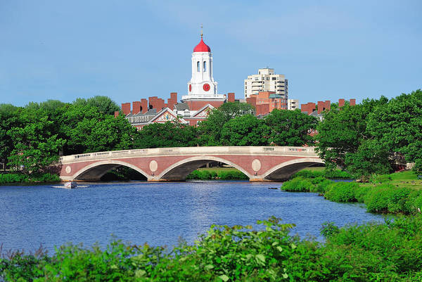 Wall Art - Photograph - Harvard University Campus In Boston by Songquan Deng