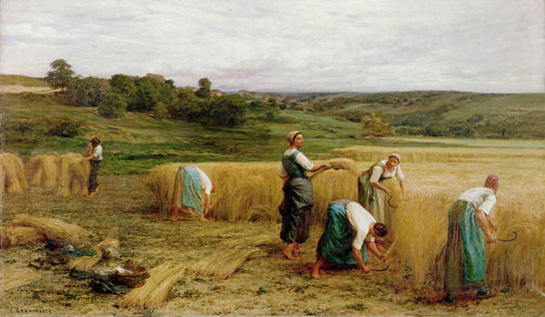 Harvesting Wall Art - Painting - Harvest by Leon Augustin Lhermitte