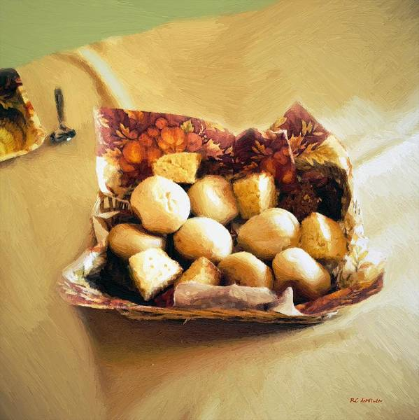 Painting - Harvest Bread by RC DeWinter