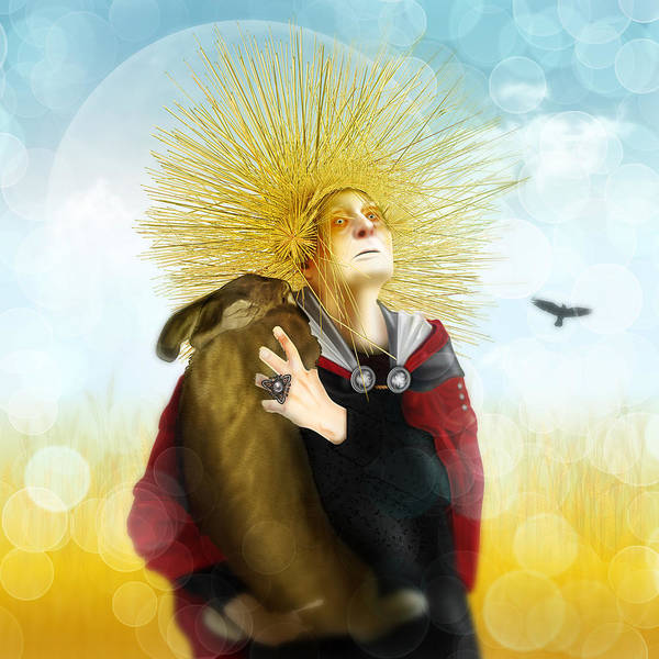 Digital Art - Harvest Crone by Penny Collins
