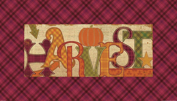Thanksgiving Wall Art - Painting - Harvest Glow II Fall Plaid by Pela Studio