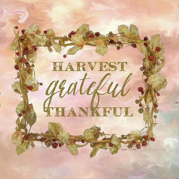 Wall Art - Painting - Harvest, Grateful, Thankful by Ramona Murdock