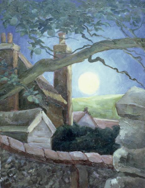 Full Moon Night Painting - Harvest Moon by Cristiana Angelini