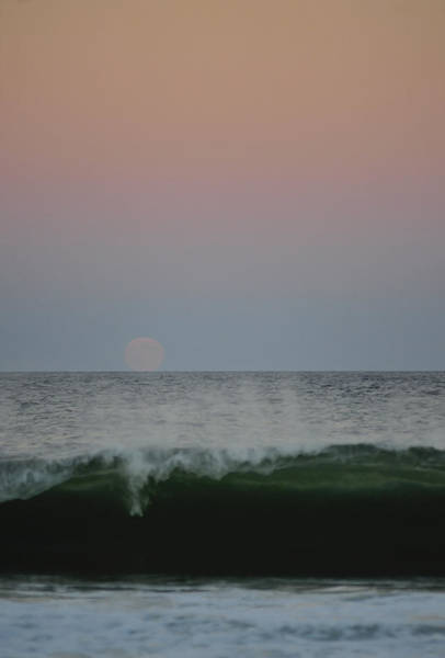 Photograph - Harvest Moon Rising Seaside Park Nj by Terry DeLuco