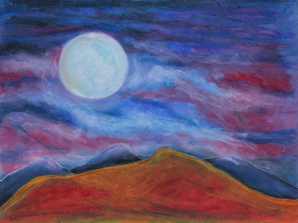 Wall Art - Painting - Harvest Moon 1 by Jeanne Fischer