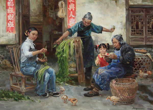 Wall Art - Painting - Harvest Of Hem by Victoria Kharchenko