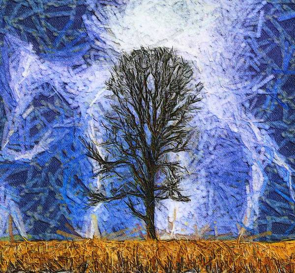 Wall Art - Painting - Harvest Storm by Dan Sproul