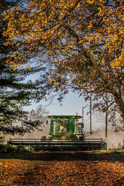 Photograph - Harvesting In The Fall by Ron Pate
