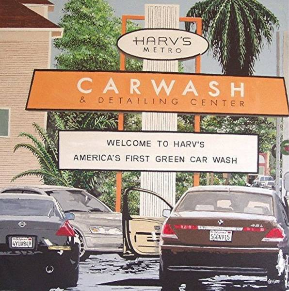 Harv's Car Wash Art Print by Paul Guyer