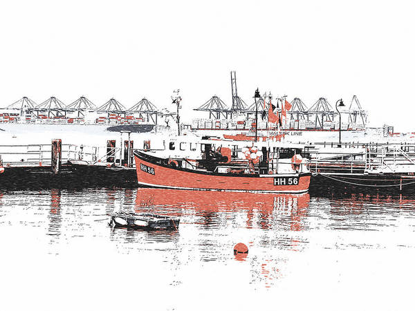 Photograph - Harwich - Fishing Boat by Richard Reeve