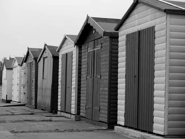 Photograph - Harwich - Monochrome Beach Huts by Richard Reeve