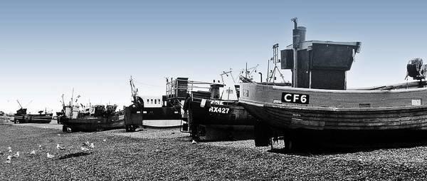 Angling Art Photograph - Hastings Fleet by Sharon Lisa Clarke