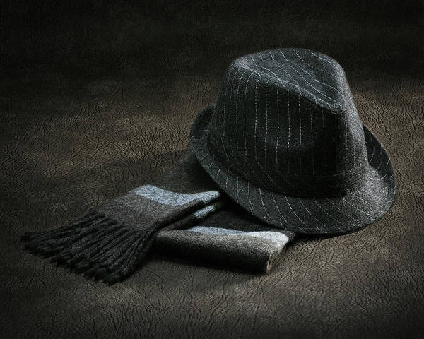 Wall Art - Photograph - Hat And Scarf by Krasimir Tolev