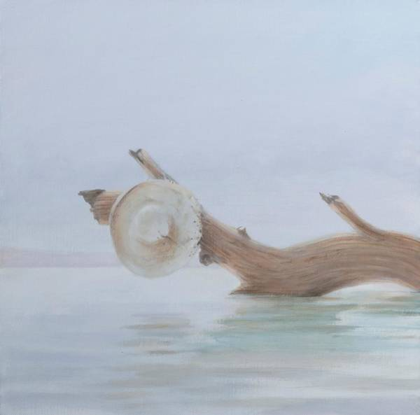 Logs Photograph - Hat On The Creek, 2012 Acrylic On Canvas by Lincoln Seligman