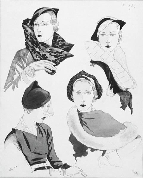 News Digital Art - Hat Styles By Agnes by Douglas Pollard