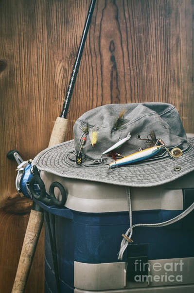 Photograph - Hat With Fishing Equipment  by Sandra Cunningham