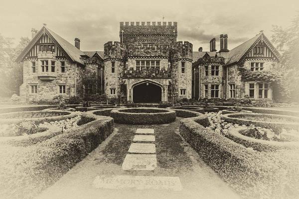 Victorian House Digital Art - Hatley Castle Black And White Vintage Photo by Eti Reid