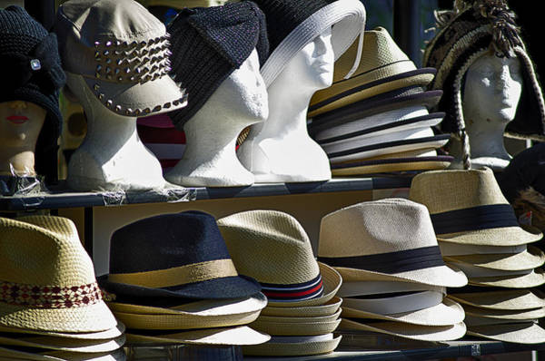 Hats For Sale Photograph - Hats For Sale by Camille Lopez