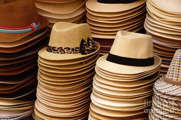 Hats For Sale Photograph - Hats For Sale Salvador Brazil by Bob Christopher
