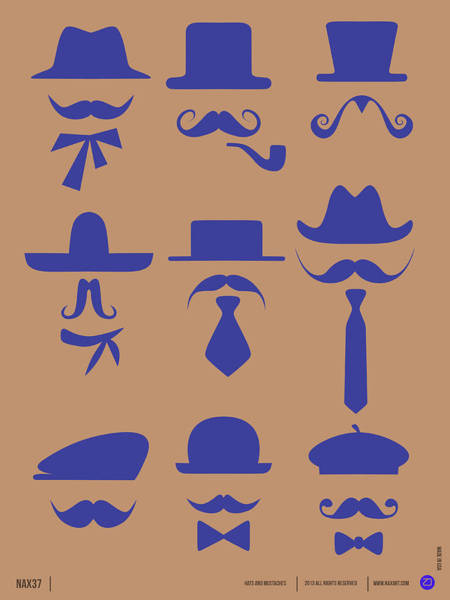 Hats Glasses And Mustache Poster 2 Art Print
