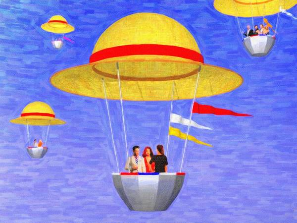 Phantasy Digital Art - Hats In The Air by Andreas Thust