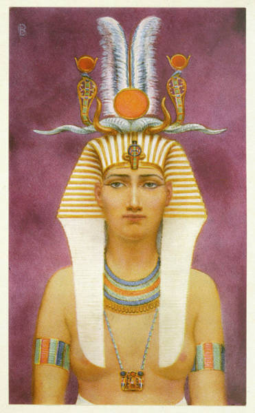 Wall Art - Drawing - Hatshepsut Wife Of Tuthmosis II by Mary Evans Picture Library