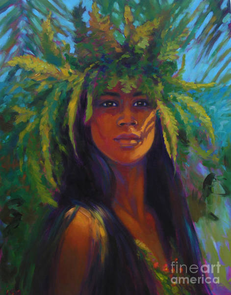 Hula Wall Art - Painting - Haumea  by Isa Maria