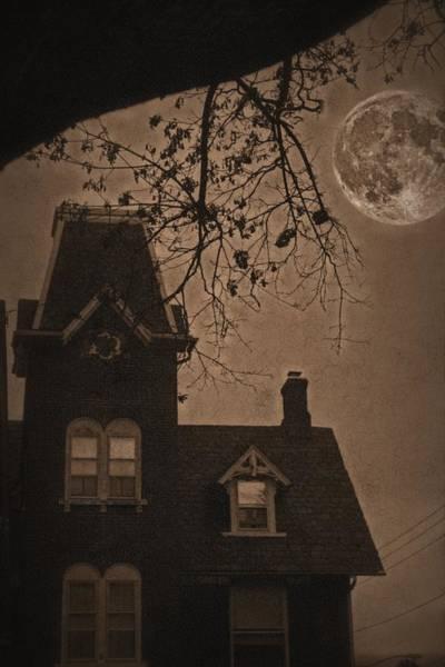 Victorian House Digital Art - Haunted by DJ Florek