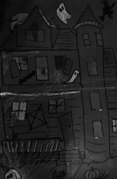 Haunted House Drawing - Haunted House by Christy Saunders Church