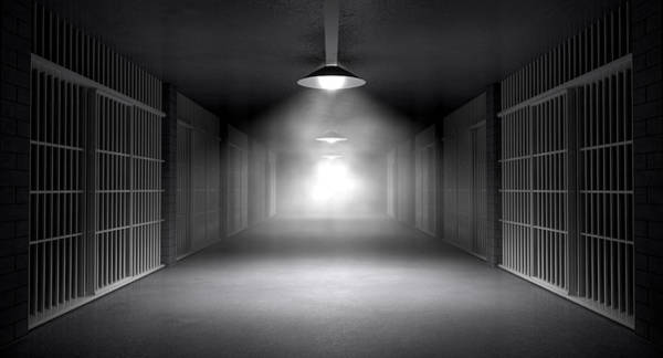 Cell Digital Art - Haunted Jail Corridor And Cells by Allan Swart