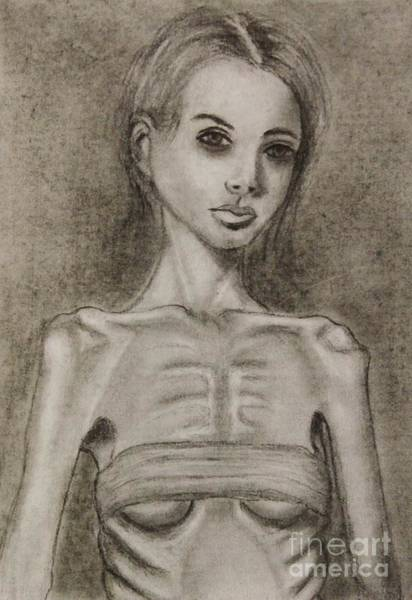 Skinny Drawing - Haunted by Michael Cross