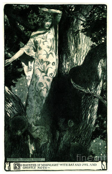 Dryad Wall Art - Photograph - Haunted Moonlight 1902 by Padre Art