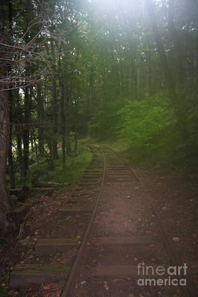 Digital Art - Haunted Ghost Old Rail Tracks by Doc Braham