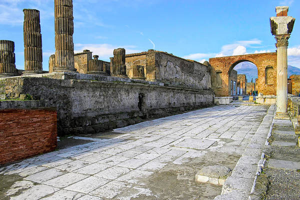 Photograph - Haunting Ruins Of Ancient Pompeii by Mark E Tisdale
