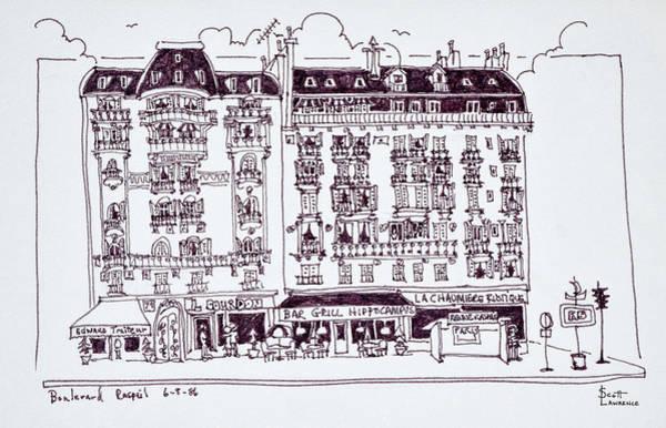 Boulevard Photograph - Haussmann Style Shops Along Boulevard by Richard Lawrence