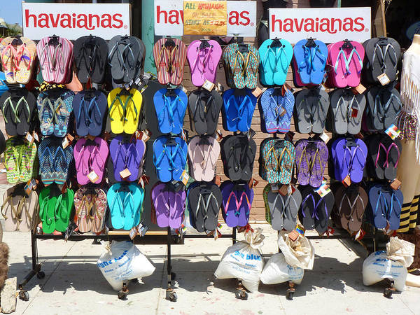 Flip Flops Photograph - Havaianas by Nancy Merkle