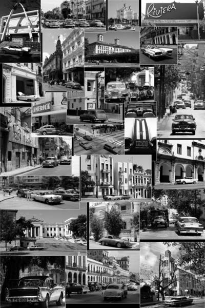 Photograph - Havana Montage 2 by Andrew Fare