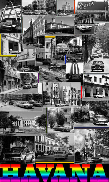 Photograph - Havana Montage 3 by Andrew Fare