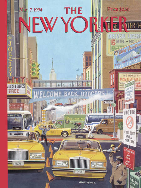 Wall Art - Painting - New Yorker March 7th, 1994 by Bruce McCall