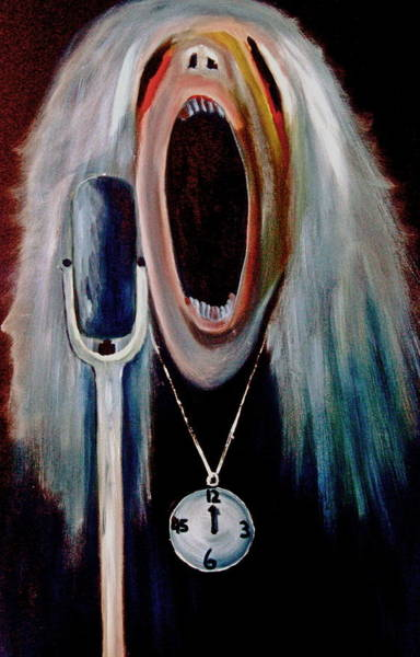 Clock Face Painting - Have A Nice Day by Frank B Shaner