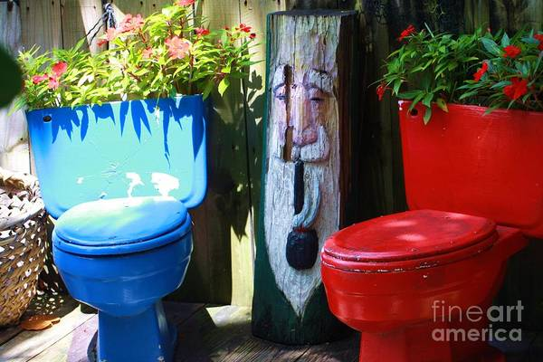 Outside Toilet Photograph - Have A Seat by Chuck  Hicks