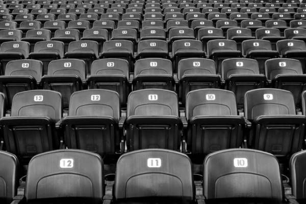College Baseball Photograph - Have A Seat by Frozen in Time Fine Art Photography