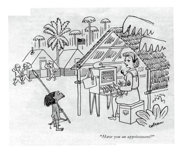 July 1st Drawing - Have You An Appointment? by Sam Cobean