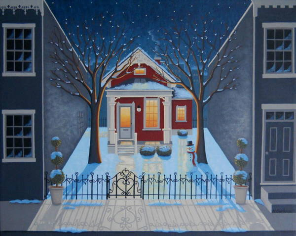 Snowscape Painting - Haven by Mary Charles