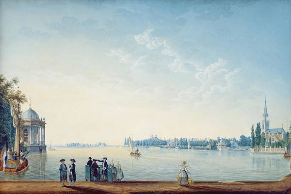 Outing Photograph - Havenrak To Broek In Waterland, Or The City Of Zwolle On The Banks Of The Ijssel In Holland, 1814 by Anton Ignaz Melling