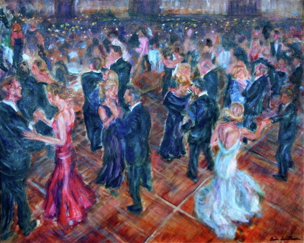 Painting - Having A Ball - Dancers by Quin Sweetman