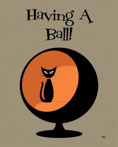 Digital Art - Having A Ball In Orange by Donna Mibus